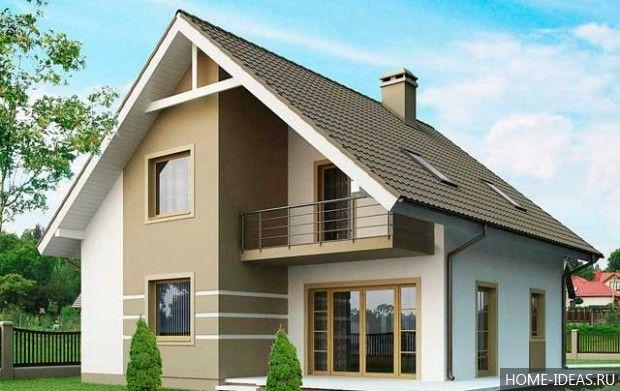 Проекты домов с мансардой 9 на 10