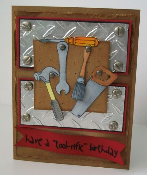 100 best masculine cards images on pinterest masculine cards tool rific birthday by alberta cards and paper crafts at splitcoaststampers m4hsunfo Image collections