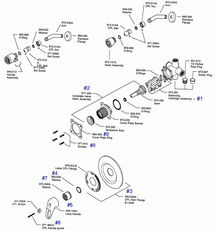 Price Pfister Shower Valve Parts Diagram Automotive With Images
