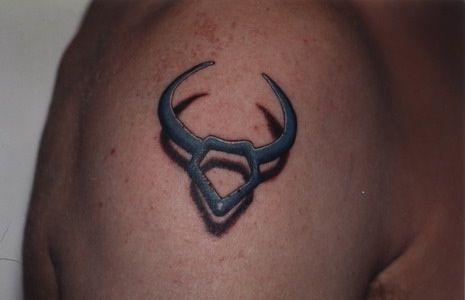 taurus tattoos | Taurus symbol tattoo (hovering) - Kerry Lavulo Tattoo