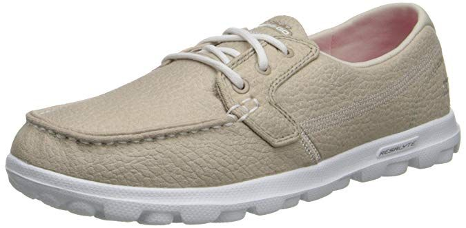 skechers on the go flagship women's boat shoes