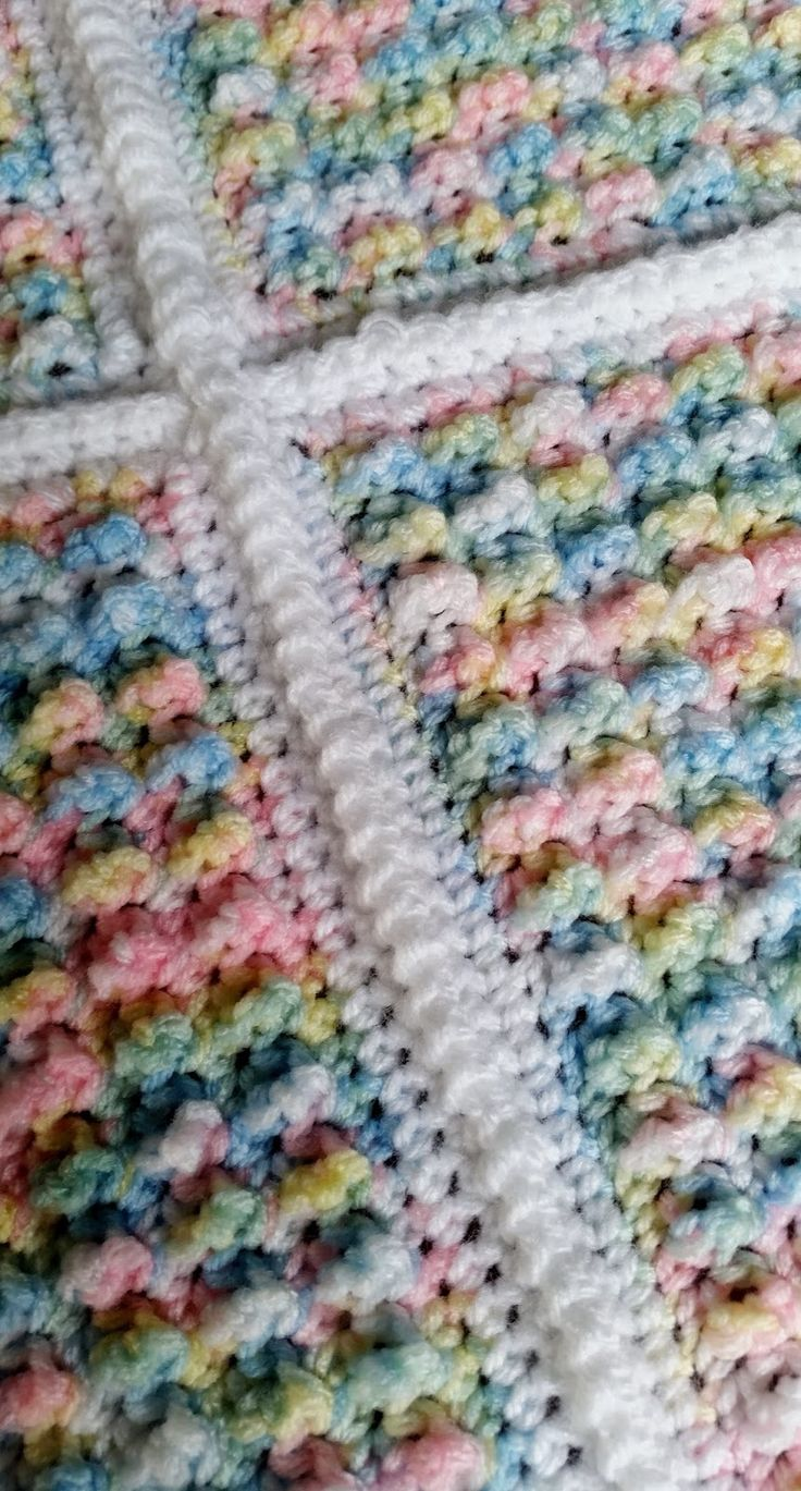 Crochet Baby Blanket Baby Afghan Bubble Pop Stitch