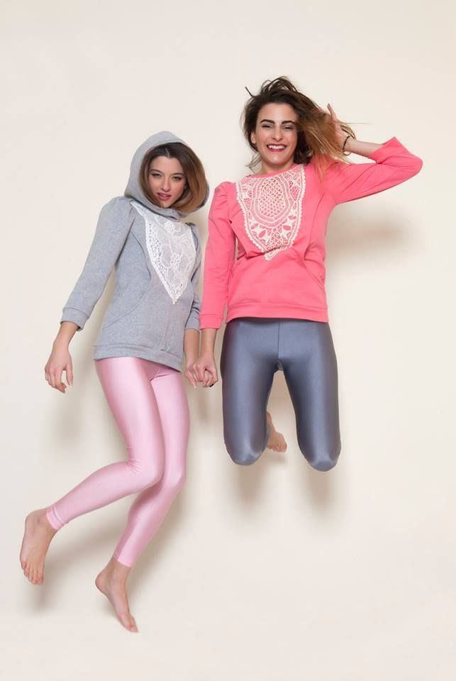 Must stores playing with the baby pink and the grey leggings #pcpclothing #pcpleggings