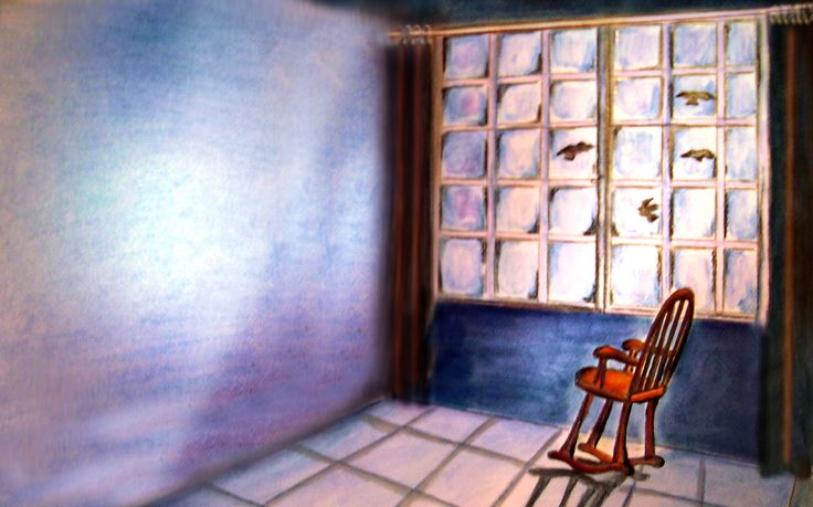 """by Argiro Stavrakou, year 1996 - Illustrations for the children' s story """" the old ant Anna""""."""