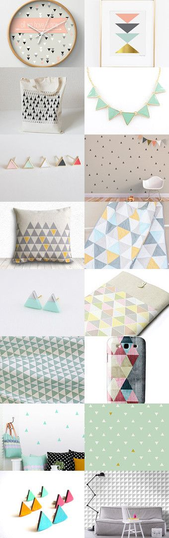 Magical triangles ... by Anna C. on Etsy--Pinned with TreasuryPin.com #triangle #pastel #etsy #treasury