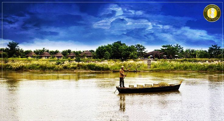 Appeasing nature and the vast blue sky Tranquil water of Rapti and the birds flying high Vibrant wilderness and Tharu culture embraces you with a smile The Coy Chitwan welcomes you to wander and be beguiled. Chiwan- the Land of Rhinos and Austere Landscapes!  Malvika Verma  #withpugdundee #safari #boatsafari #safariholiday #wildlifeholiday #Chitwan #Nepal #chitwannationalpark #closetonature #tharu #culture #wilderness #wanderlust #nationalpark
