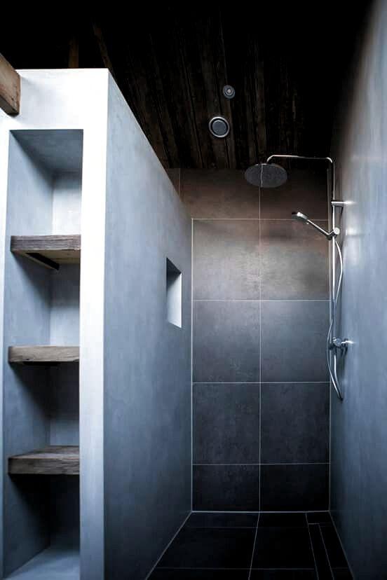 Begehbare Dusche aus Mauerwerk Badezimmer aus