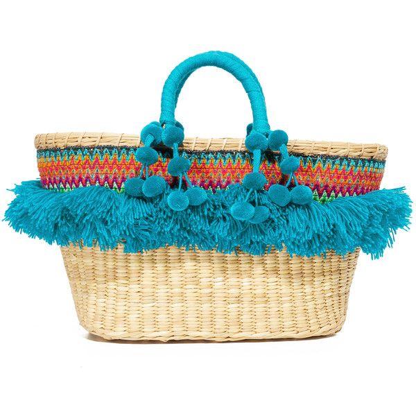 Nannacay Cristina M Tote ($305) ❤ liked on Polyvore featuring bags, handbags, tote bags, tote bag purse, blue tote handbags, blue tote, handbags tote bags and tote handbags