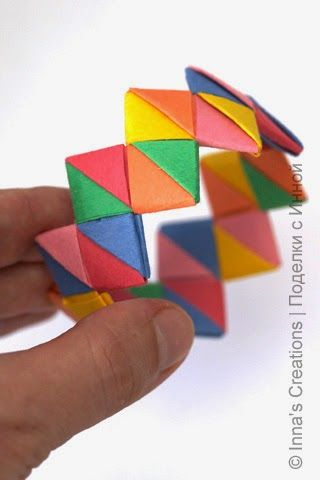 Children Love These Bracelets Made From Paper Strips The Idea Isnt New I Origami Candy Wrappers When Was A Child