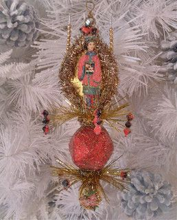 Victorian Beaded Chinoiserie Christmas Ornament by The Haunted Lamp - asian - holiday decorations - by Etsy