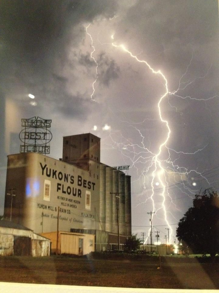 Yukon, Oklahoma by Lisa Burke White, I used to live about a mile from this mill.