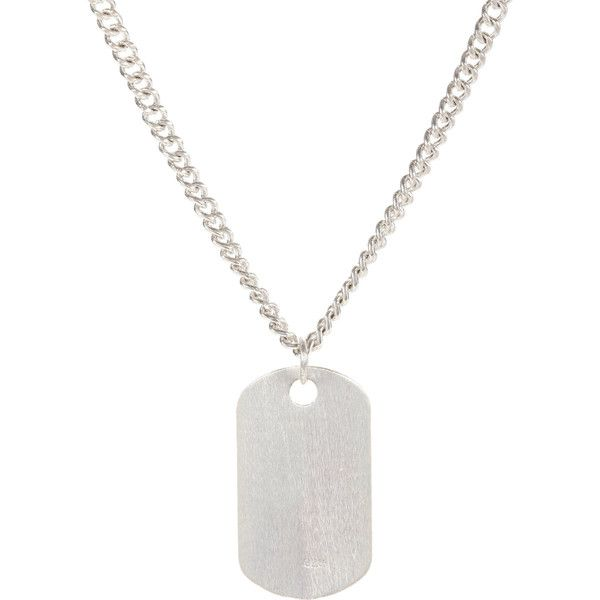 Loren Stewart Silver Dog Tag Pendant & Chain (4,595 MXN) ❤ liked on Polyvore featuring men's fashion, men's jewelry, men's necklaces, jewelry, jewelry - necklaces, necklaces, silver, mens silver necklace, mens long necklaces and mens dog tag necklace