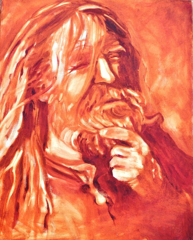 My husband Neil...sepia painting