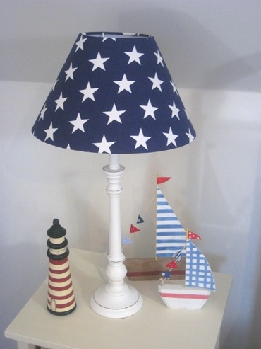 Blue Star Lamp A Stylish Bedside Lamp With A Distressed