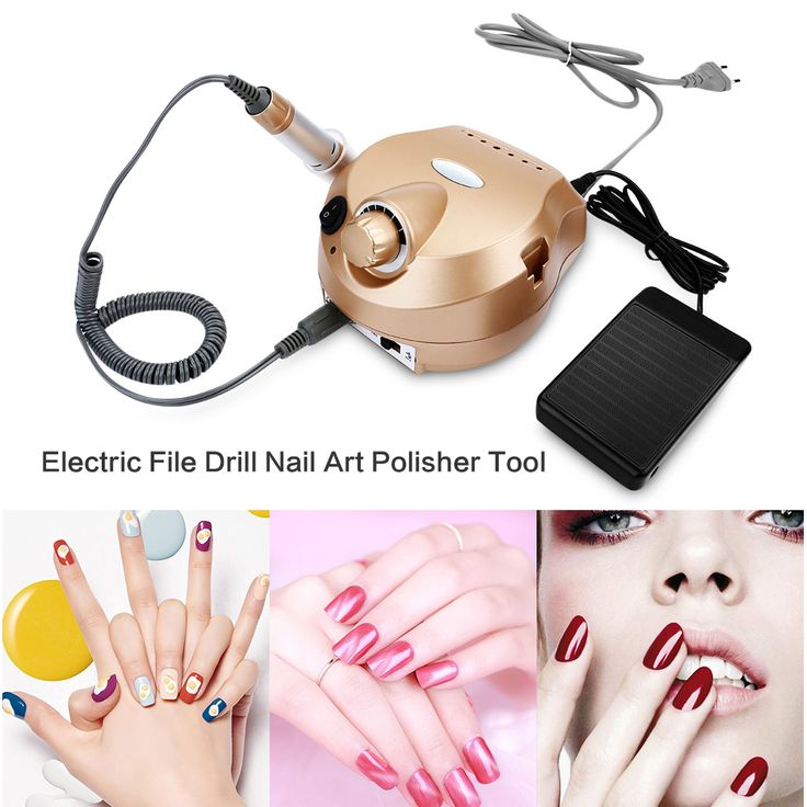 Buy  Professional Electric Nail Drill Manicure Pedicure Machine Nail Art Polisher File Nail Art Equipment Low Noise and Vibration ....Click Link for More Information... #art