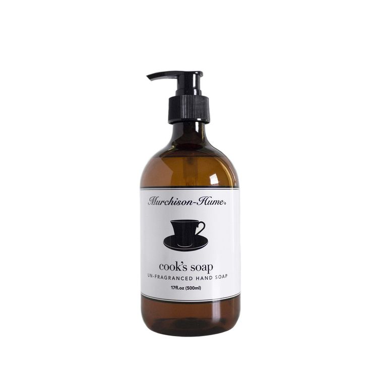 COOK'S SOAP - Murchinson-Hume. This un-fragranced liquid hand soap is natural, safe, and works wonderfully. Shop the collection at CarbonBeauty.com