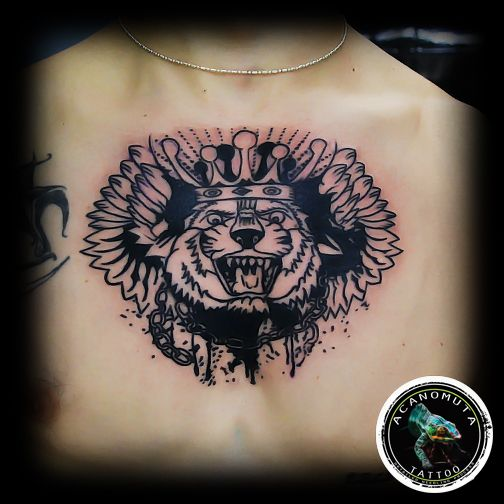 Lion chess tattoo is a great idea for a sleeve tattoo.