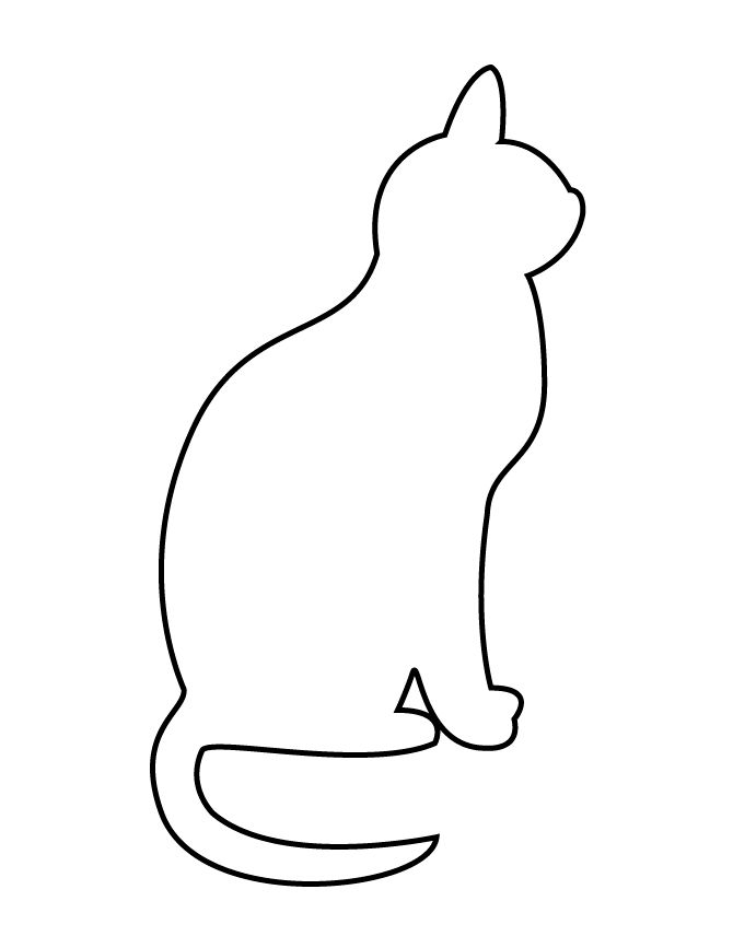 simple-cat-stencil.gif (670×867)   Cat quilt, Quilts, Cats