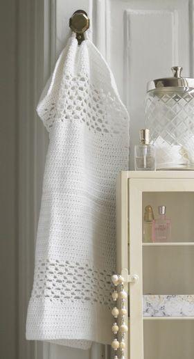 Hæklet gæstehåndklæde - Hækling - Håndarbejde og strikkeopskrifter - Familie Journal