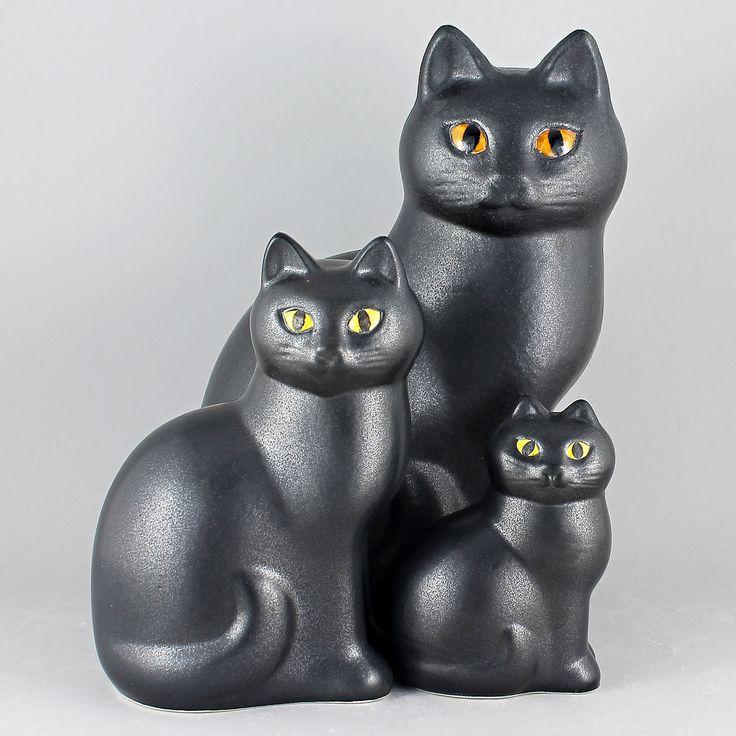 Lisa Larson (1990s) Lovely Cat Family (Black)