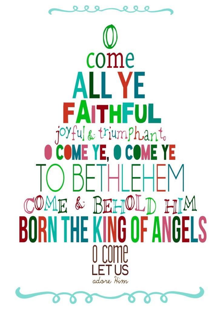 O Come All Ye Faithful printable