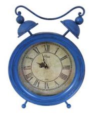 UH75023 Blue Vintage Clock 33cm