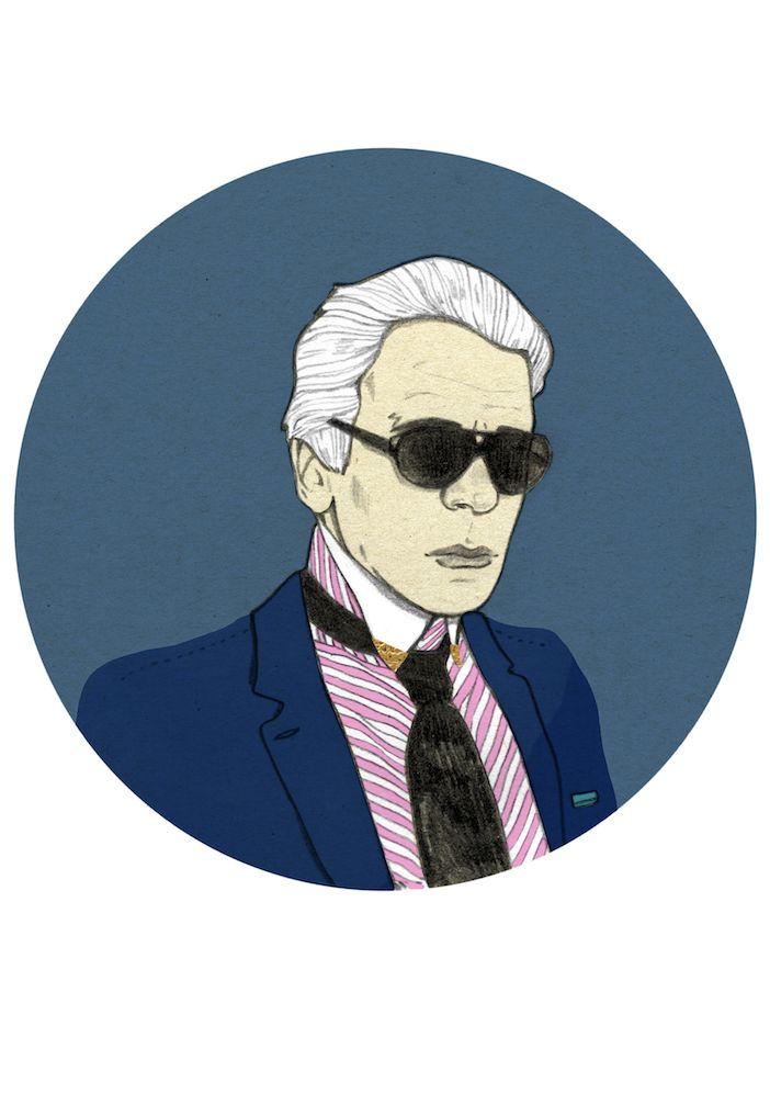 Karl Lagerfeld by Magdalena Pankiewicz