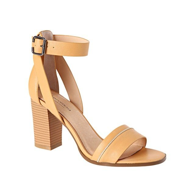 «High-heeled sandals. In love with this pair of shoes ❤ Ref. 1-2-29-01-21-050 #New #SS2015 #Promod perfect nude heel