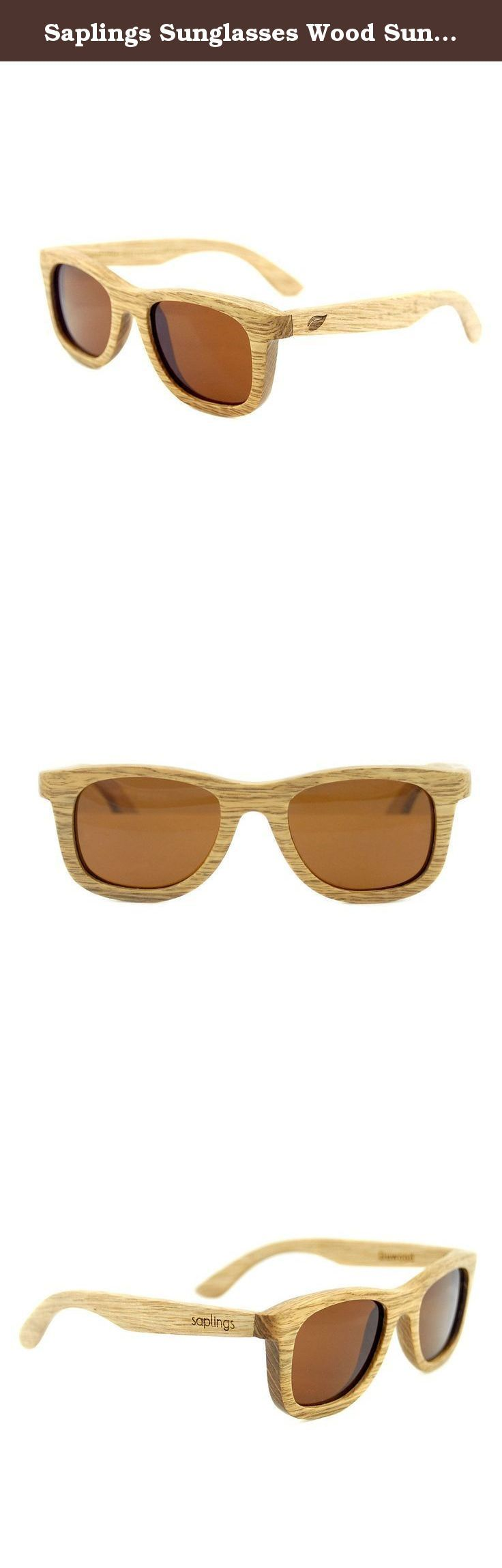 Saplings Sunglasses Wood Sunglasses for Toddlers and Kids. These are the very first wood sunglasses for kids ever made. Seriously. This is the original kids wood sunglasses. These wood sunglasses for kids and toddlers are made with the classic wayfarer shape. They are made from Duwood and come fitted with polarized UV 400 lenses to protect your children and toddlers eyes from the sun. This means that your children and toddlers can spend more time in the sun with these wood sunglasses for...