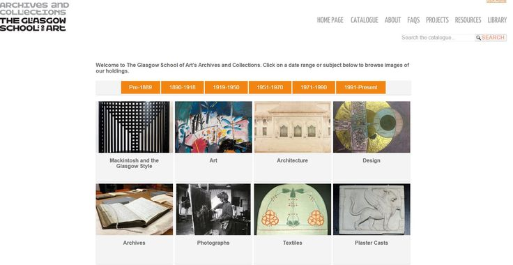 The Glasgow School of Art Archives and Collections Homepage