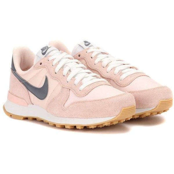 1f8df2c6d07d51 ... pink internationalist trainers Nike Nike Internationalist Suede  Sneakers (135 AUD) ❤ liked on Polyvore featuring shoes