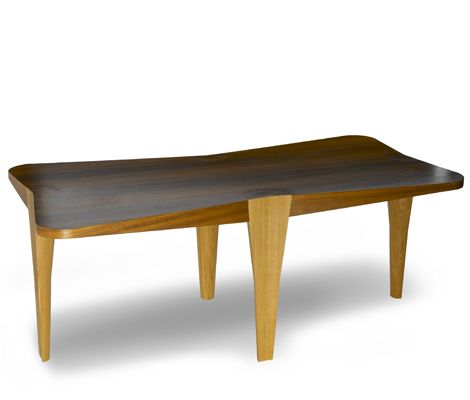 Christian Biecher / Coffee Table - Neotu Edition / 2000 / Walnut and Oak / Courtesy Galery Mouvements Modernes