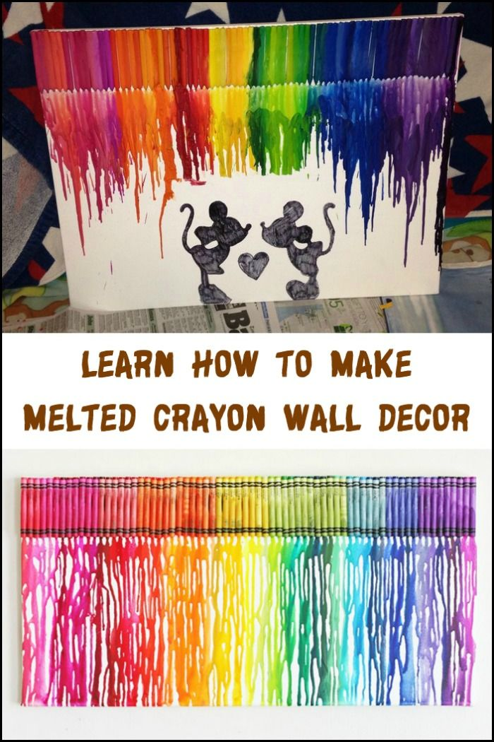 Why buy wall decor, when you can make one! Learn how to make your own melted crayon wall art now by heading over to our site :)
