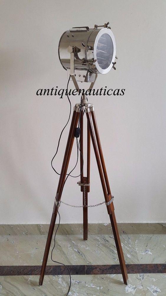Marine Retro Floor Lamp Nautical Spot Studio Tripod Floor Lamps Search light #sarainternational