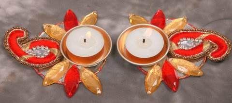 Designer Peacock #Diya for Diwali #handicrafts by #craftshopsindia