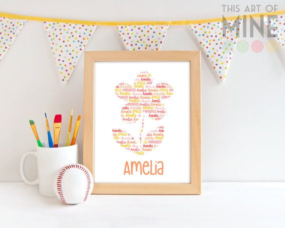 Add a hint of spring to your little girl's room with a personalised flower print, available in a wide range of colours to suit any decor.