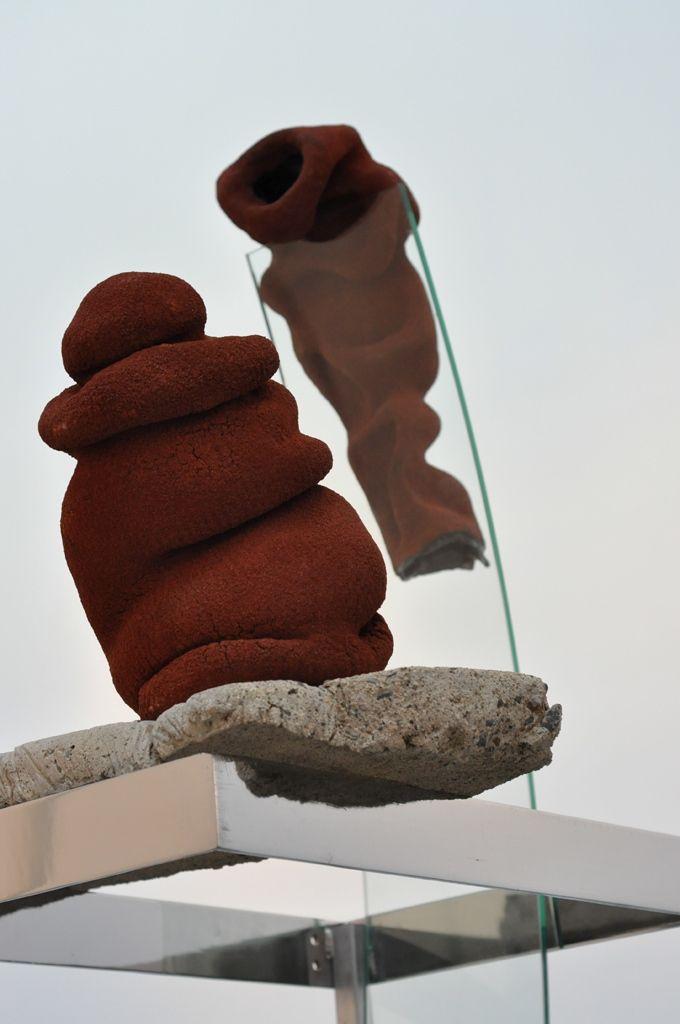 Ceramic, concrete, glass and metal