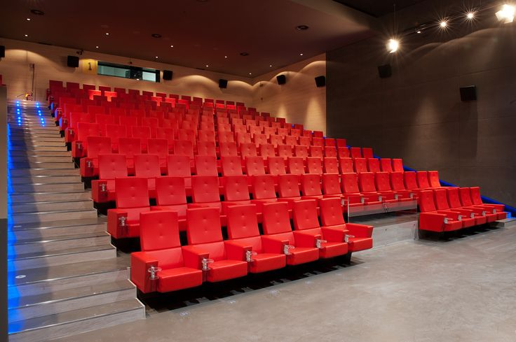 Frau armchair Serie _815 for cinema and auditorium - red - designed by SeveriniAssociati + partners
