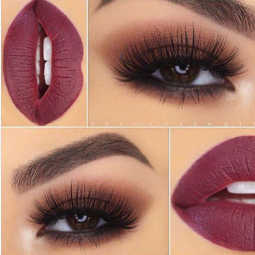 Smokey Eyes Paired with a Gorgeous Matte Plum Lipstick ~ Beautiful!!
