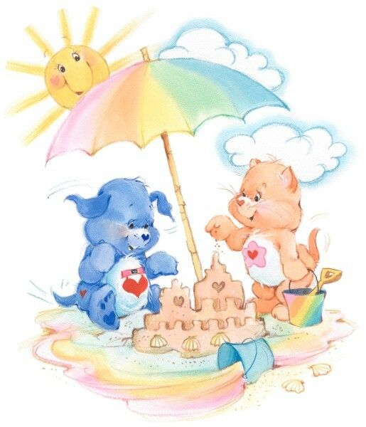 Care Bear Cousins: Loyal Heart Dog & Proud Heart Cat Building a Sandcastle