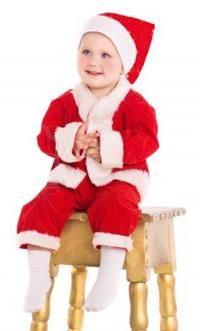 Noel Erkek Bebek Kostümü, Elyaf  0-3 Parti Kostümleri - Bebek Kostümleri Yılbaşı Kostümleri: Kostümlü Parti, Kıyafet Balosu, Okul Gösterileri,Yılbaşı Partileri için ideal kostüm.  Elyaf şapka, ceket, pantalon ve kemerden oluşan Erkek Çocuk Noel Baba Kostümü.