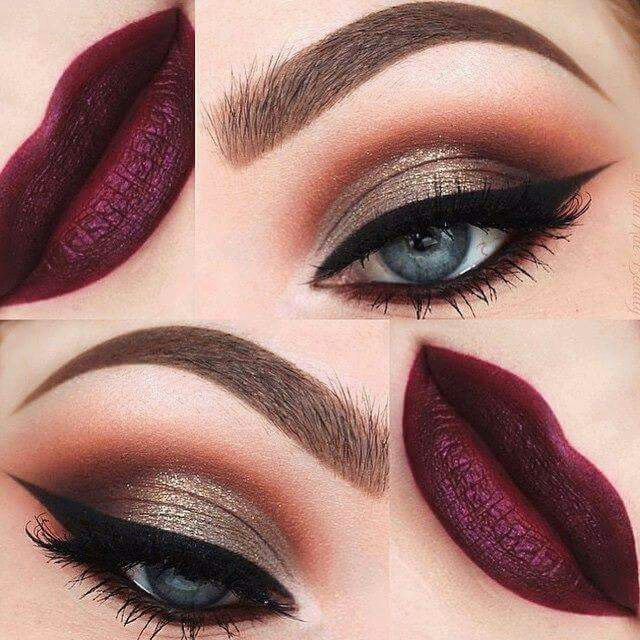 Fantastic autumn makeup look