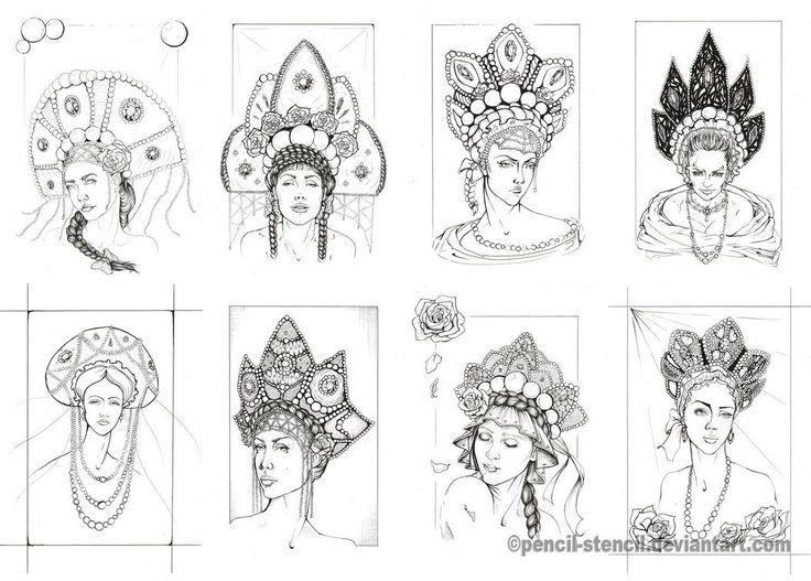 My kokoshnik collection by Pencil-Stencil on deviantART