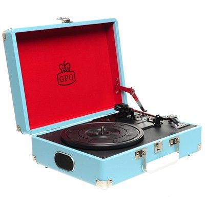 Gpo Attache Turntable With Usb Direct Recording Ozsale Blue-GPOAttacheBlue