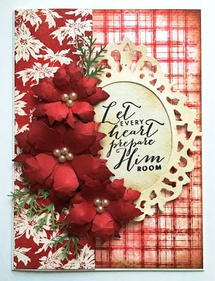 Handmade Christmas card by Autumn Clark featuring the Every Heart plain jane from Verve. #vervestamps
