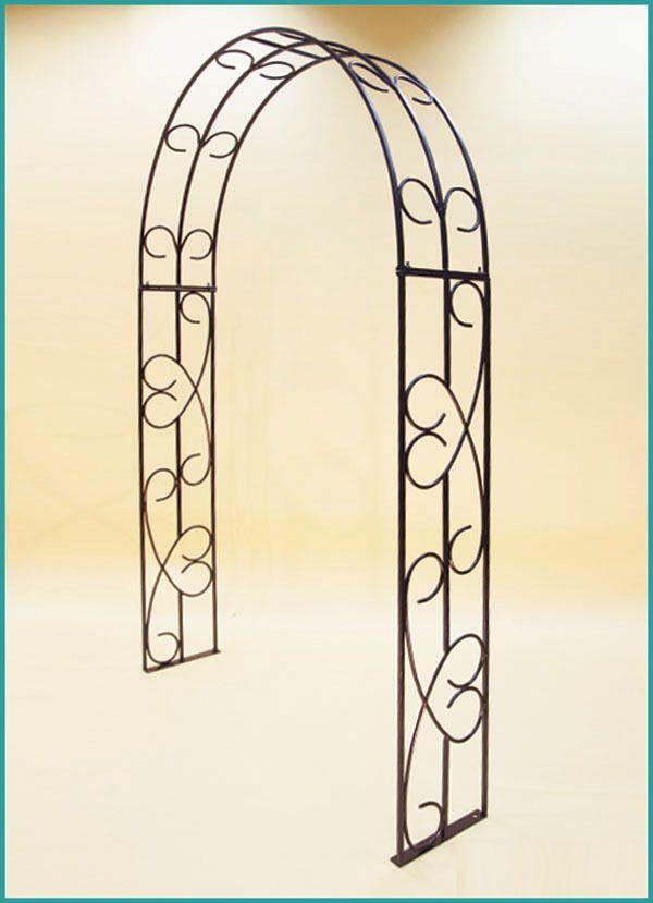 Кованная арка для цветов садовая. Размер: 2200х1500х300 мм. Материал: квадрат 12 мм., прут 10 мм.