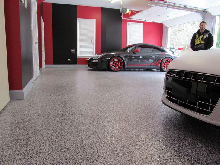 tuxedo flake floor man cave garage flooring pinterest. Black Bedroom Furniture Sets. Home Design Ideas