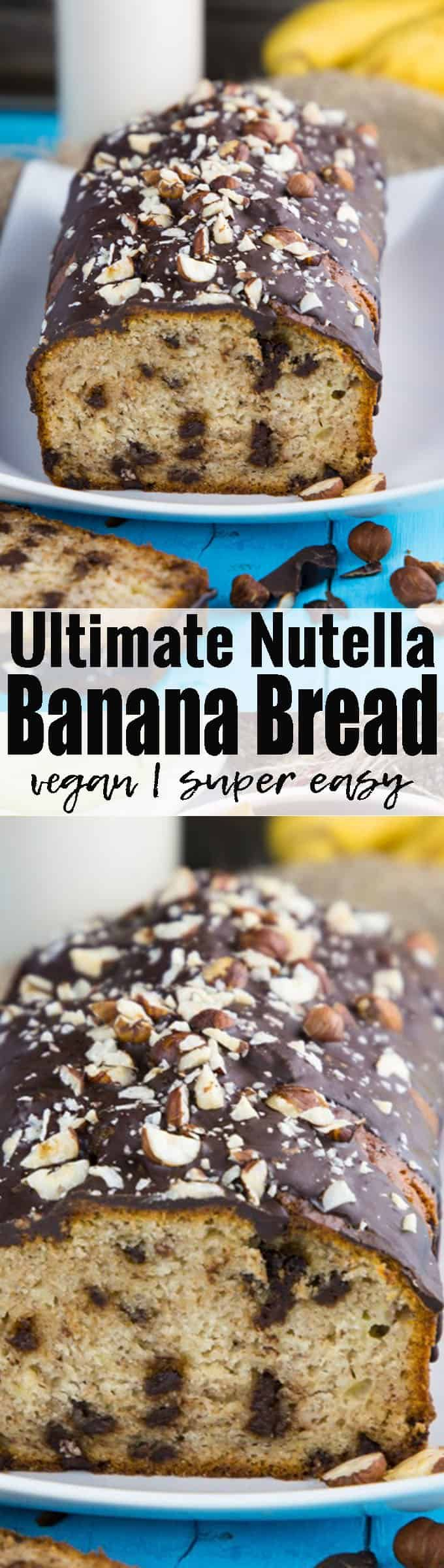 Making banana bread without butter and eggs is super easy! This vegan banana bread with chocolate and chopped hazelnuts is one of my all-time favorites! Chocolate heaven, here I come!! Find more vegan recipes at veganheaven.org ! <3
