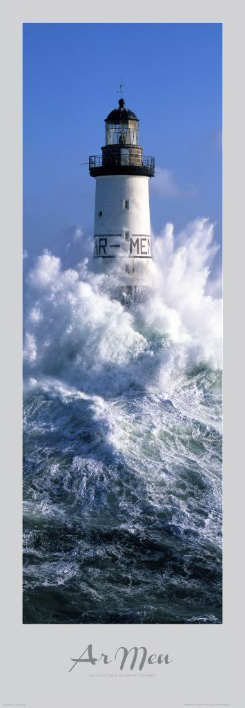 Poster photo Bretagne Phare d' Ar-Men - Finistère - Guillaume Plisson