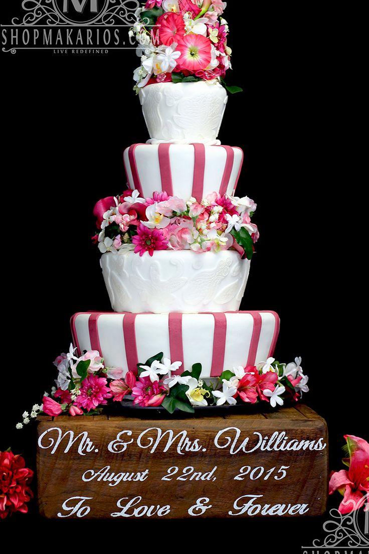 Rustic Cake Stand -Wood Cake Stand - Shop Makarios - Custom Cake Stand